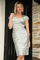 Irresistible pewter silver dress with bolero.418