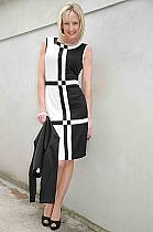 Studibaker black/cream geometric dress.58