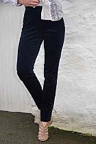 069ecb5e2d62 Robell Bella needle cord dark navy slim fit trousers